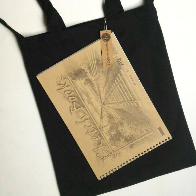 IN-STOCK | ARTE 2-Ways Canvas Tote Bag | Black