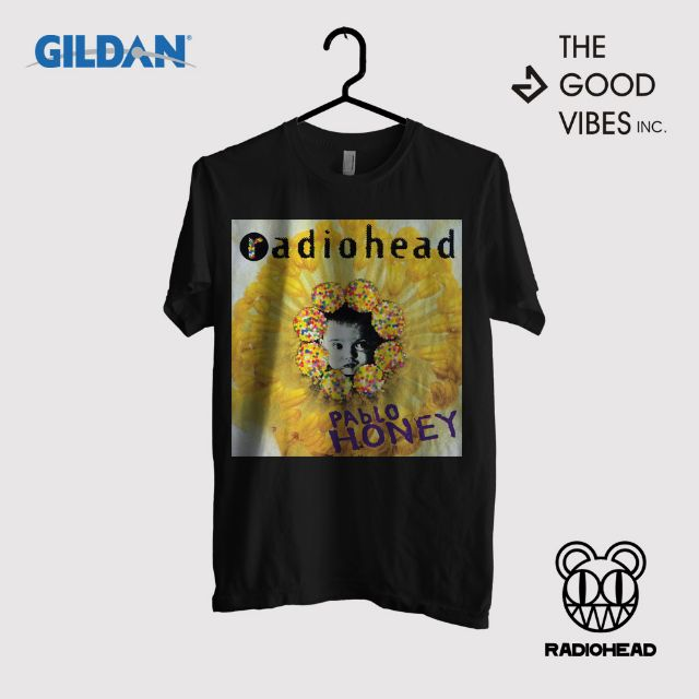 Kaos Band Radiohead Original Gildan - Pablo Honey, Men's Fashion, Men's Clothes, Tops on Carousell