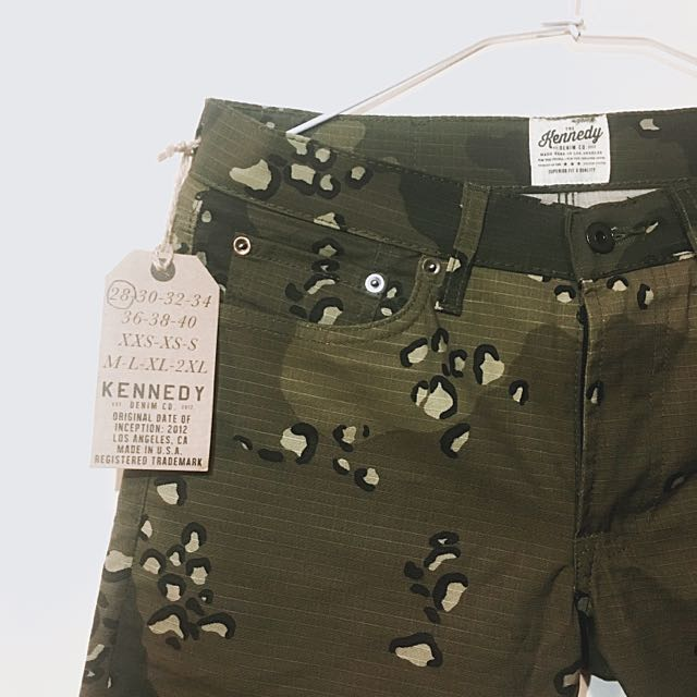 美牌kennedy camo Denim 迷彩彈性窄版長褲 28腰 1680含運