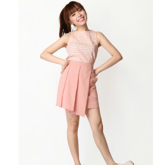 fbf39ab003d0f MELISSA TANK TOP IN PEACH GINGHAM