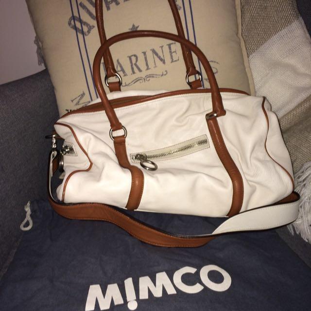 Mimco Tomboy Drum Leather Handbag