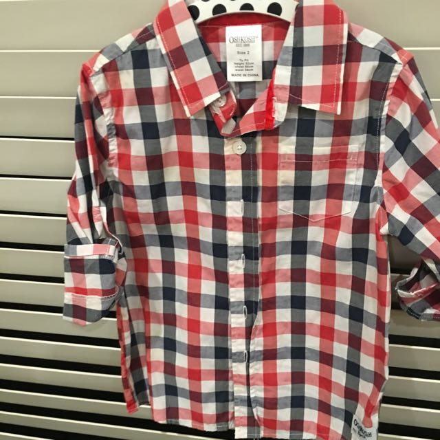 Osh Kosh Boys Check Shirt