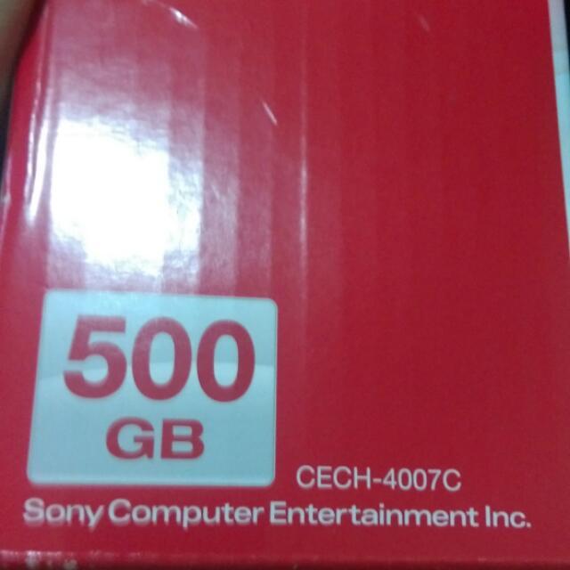 PS3 500g 4007c 保固未登入含遊戲跟防塵包