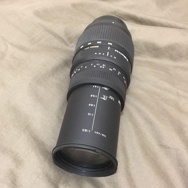 Sigma 70-300mm F4-5.6 DG macro lens for Nikon dslr