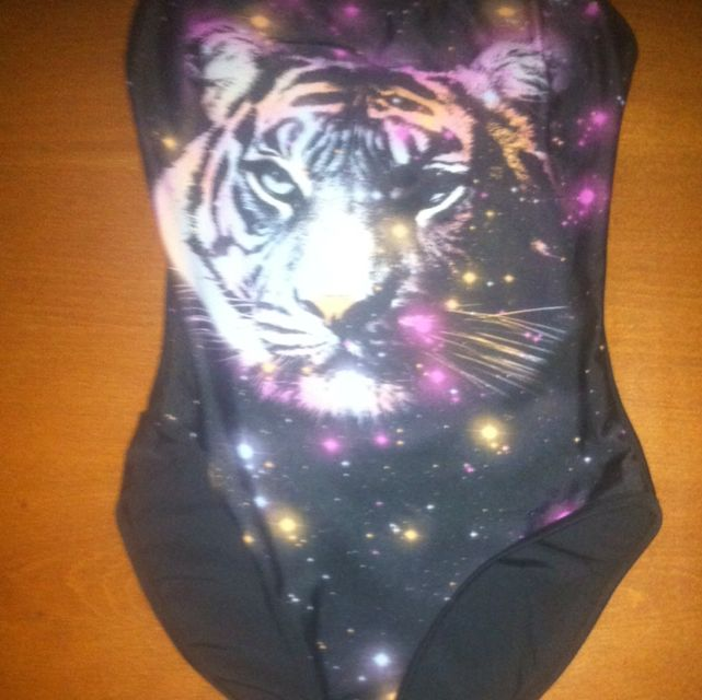 Size 12 Galaxy Tiger Bathing Suit