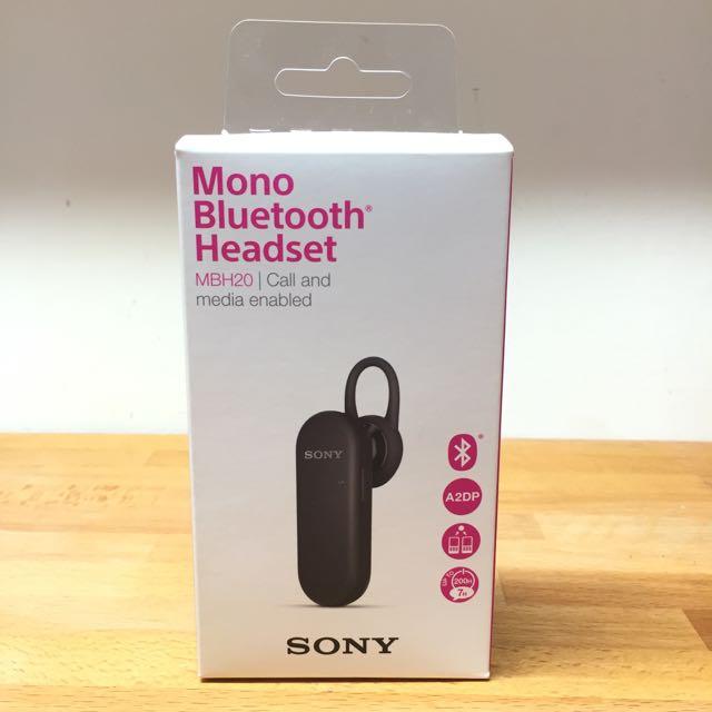 SONY MBH20 單聲道藍牙耳機(黑色)