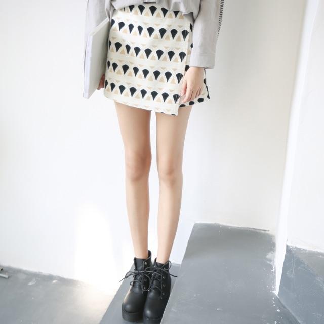 褲子/SuperC/不規則幾何褲裙 #029046