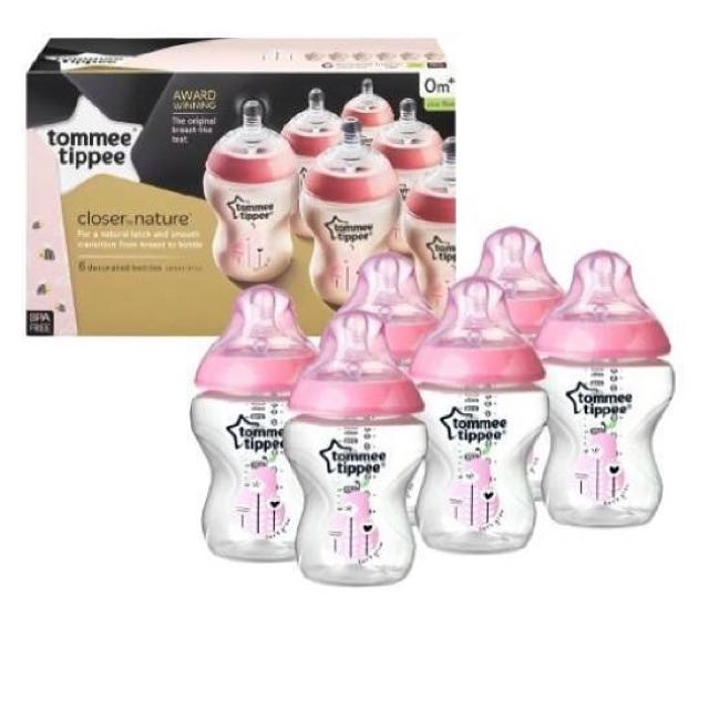Tommee Tippee closer to nature Baby Girl 6pack