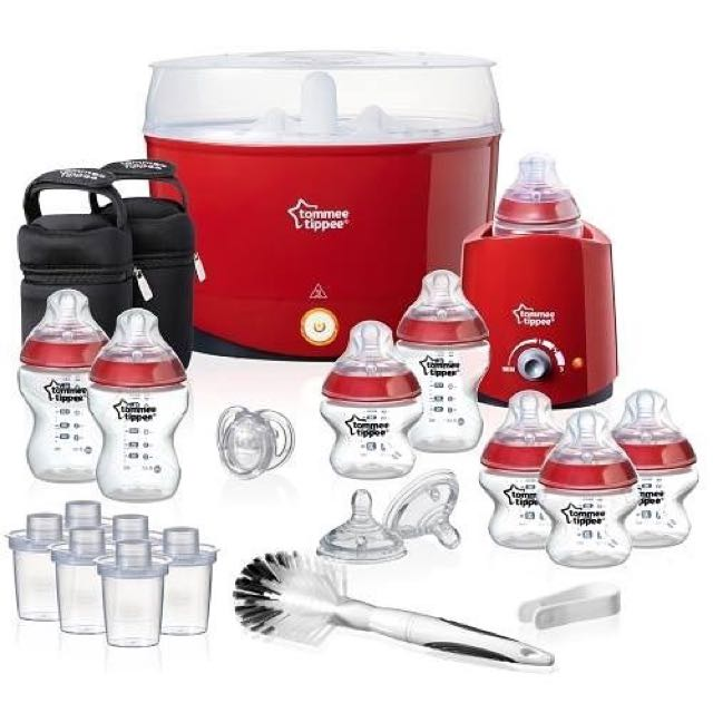 Tommee Tippee Closer to Nature Essentials Kit, Red Edition