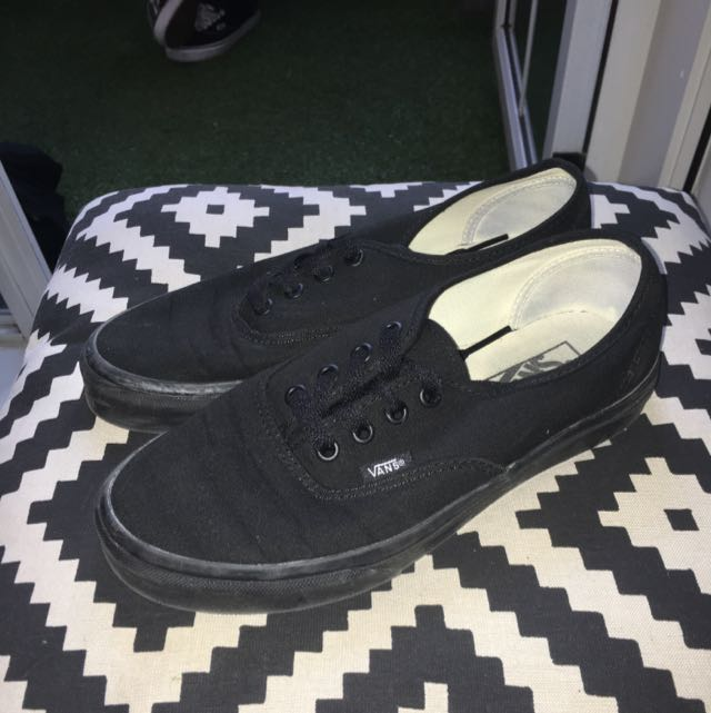 Vans Black/black Authentic Sneakers Size 7.5