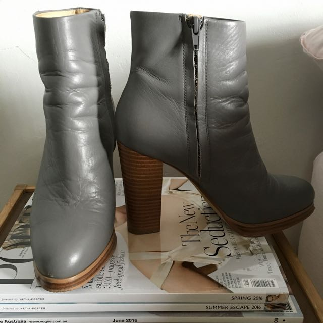WITTNER Steel Grey Tumbled Leather Boots