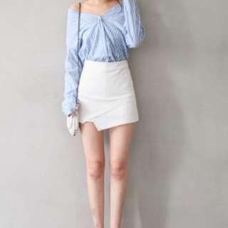 斜開叉褲裙(含運)
