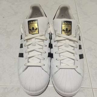Adidas Superstar with Gold Label