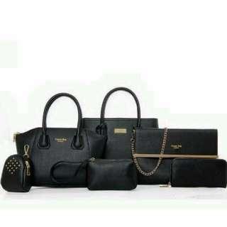 NEW🔹黑色時尚超值六件包組