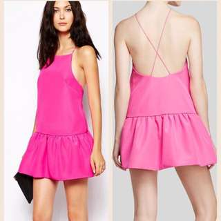 Finders Keepers Women's Pink Cross Back Dress. Size M