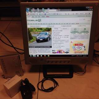 奇美17吋LCD液晶螢幕+圓剛電視盒