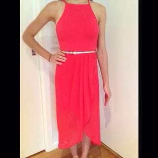 Fiery Orange Forever New Dress- Size 6