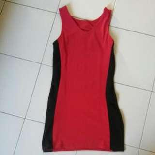 Dress Black N Red