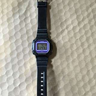 Casio Black / Purple Watch