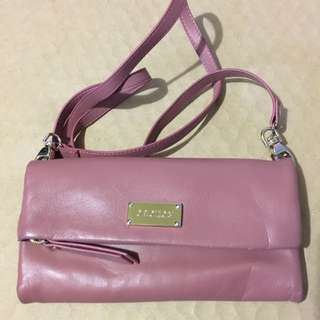 Oroton Mauve Pink Wallet With Strap