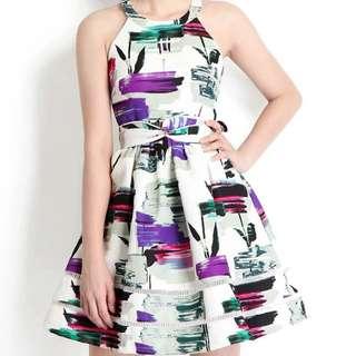 (BNIB) Lily pirates - Sunday Club Dress in Brushstroke Prints, Size M