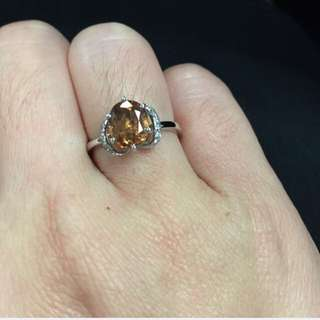 Natural Color Change Garnet Diamonds Ring