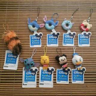 (REDUCED) Combo Set Of Disney Keychain Soft Toys