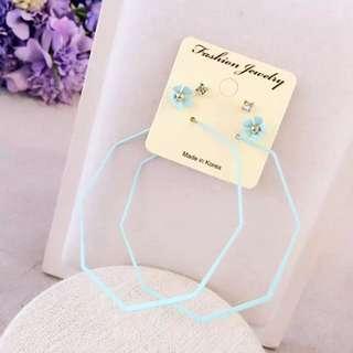 Hoop Earrings Tiffany Blue
