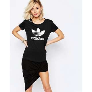 adidas Originals Fitted T-Shirt With Trefoil Logo **BRAND NEW**