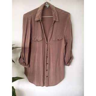 Brown Long Sleeved Shirt