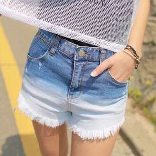 🍬MODA🍬漸層渲染短褲