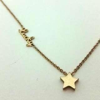 lucky star 星星頸鏈