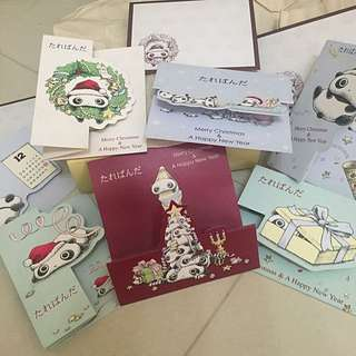 Tarepanda Christmas & New Year Cards (set of 7)