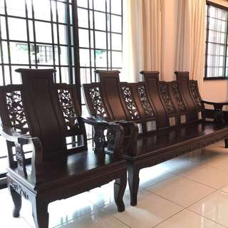 Chinese Wooden Sofa Set