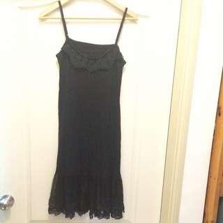 棉質蕾絲連身裙