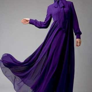 Hijab House Purple Florence Dress - Size 10