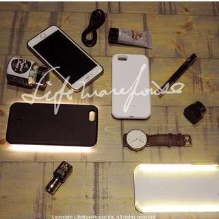 iPhone 6 / 6S 4.7吋自拍女神手機補光殼 白色 全新