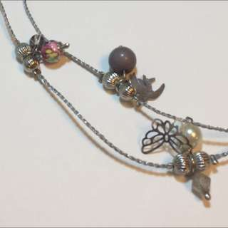 Bird & Butterfly Long Necklace