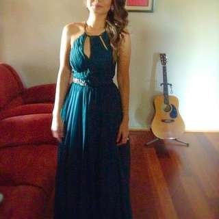 BARIANO maxi Gown - Pine Green - Size 6