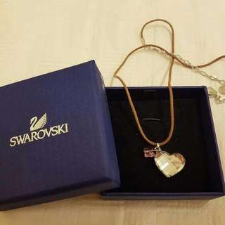 Genuine Swarovski Butterfly Heart Necklace