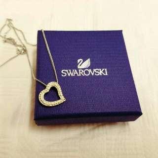 Genuine Swarovski White Heart Necklace