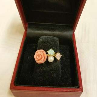 Colourful Flowery Ring