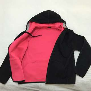 Hoodie With Hot Pink On The Inside