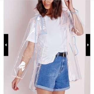 Missguided Clear rain jacket