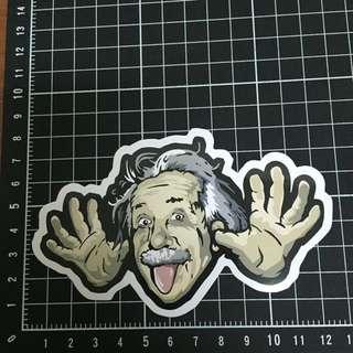 【PVC防水貼紙】愛因斯坦