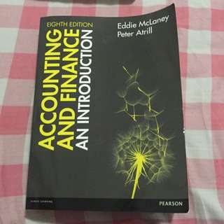 Accounting & Finance (eighth Edition)