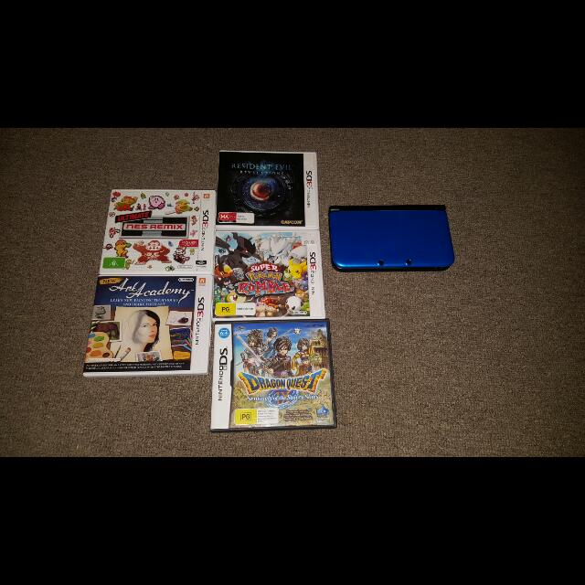 3ds Xl Blue With 6 Games And Charger! !!