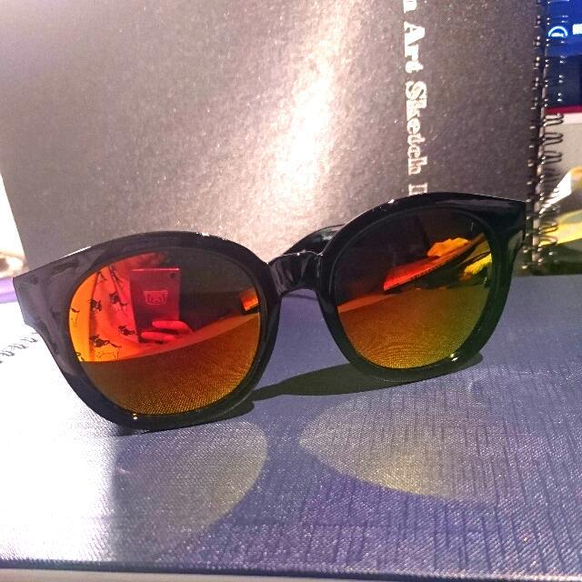 鐳射反光橘色墨鏡
