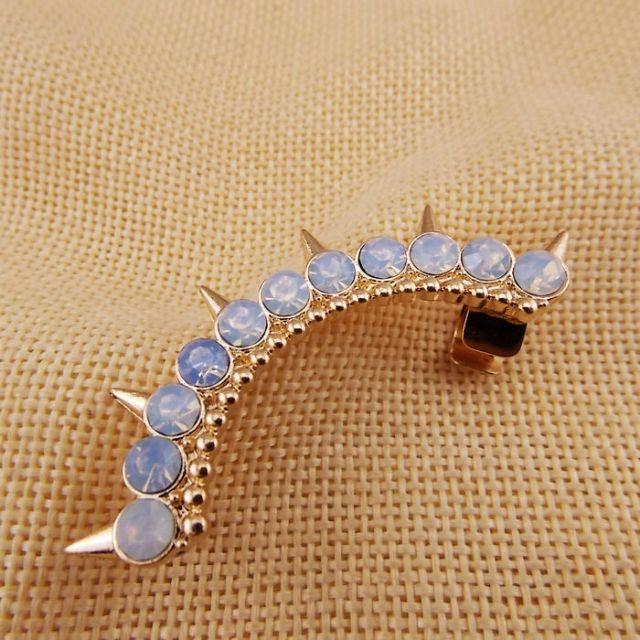歐美款時尚奢華鑽鉚釘單邊耳夾耳環