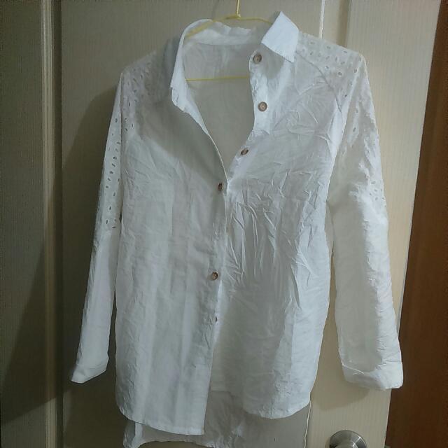 正韓白色襯衫